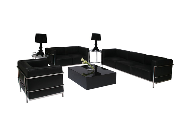 Le Corbusier Lounge Grouping – Black