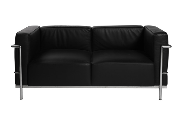 Le Corbusier Loveseat – Black