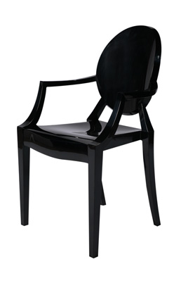 Louis Ghost Chair – Black