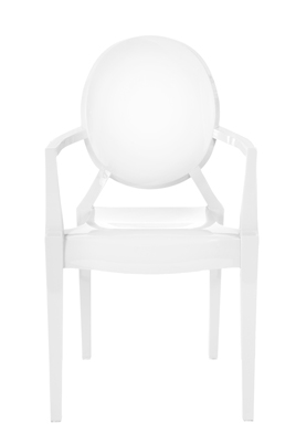 Louis Ghost Chair – White