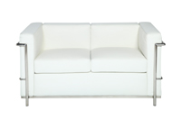 Le Corbusier Loveseat - White