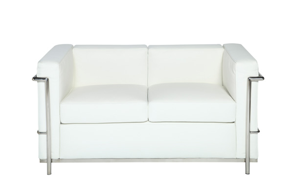 Le Corbusier Loveseat – White