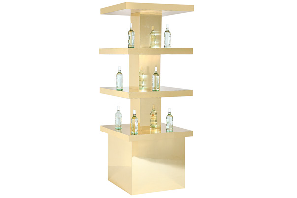 Display Tower – Gold