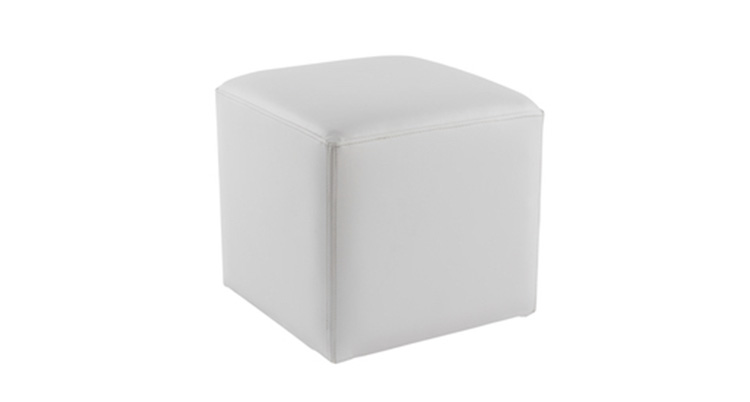 Leather Cube – White