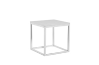 Frame End Table - White