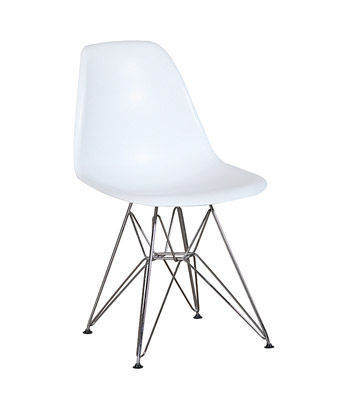 Eames Plastic Side Chair Wire Legs – White