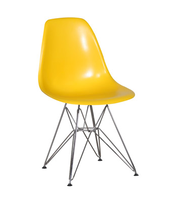 Eames Plastic Side Chair Wire Legs – Yellow