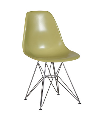 Eames Plastic Side Chair Wire Legs – Green