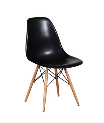 Eames Plastic Side Chair Dowel Legs – Black