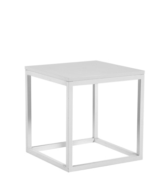 Frame End Table – White
