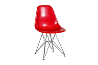 Eames Plastic Side Chair Wire Legs - Red