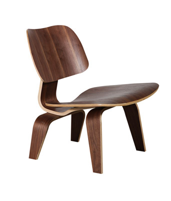 Eames Plywood Lounge Chair – Walnut