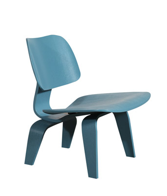 Eames Plywood Lounge Chair – Light Blue