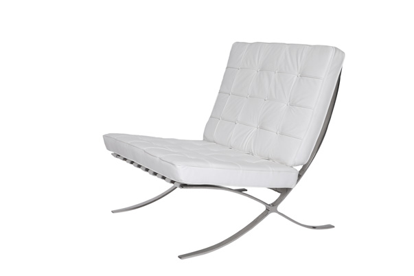 Barcelona Chair – White