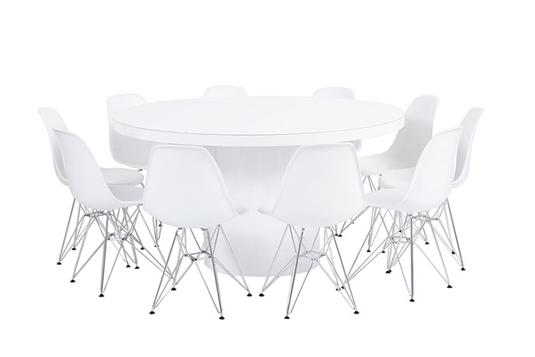 Orb Dining Grouping – White