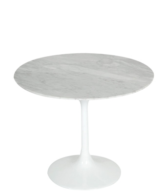 Tulip End Table – Marble