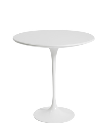Tulip End Table – White