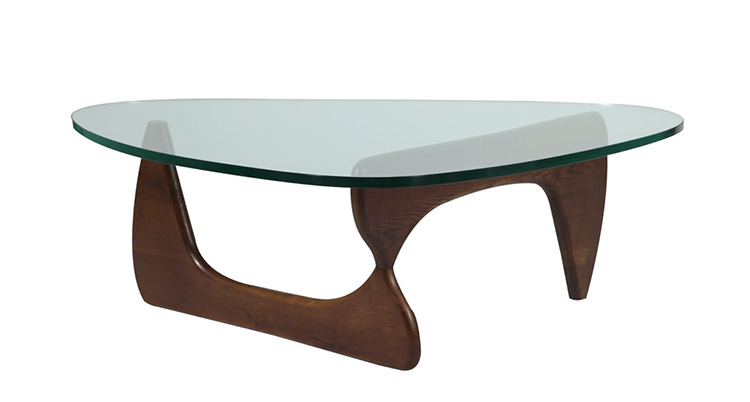 Noguchi Coffee Table Walnut Miami Event Tables Lavish Event Rentals