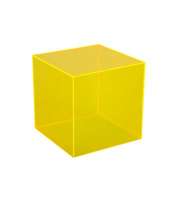 Plexi Cube Yellow Miami Event Tables Lavish Event Rentals