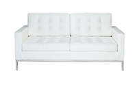 Knoll Loveseat White