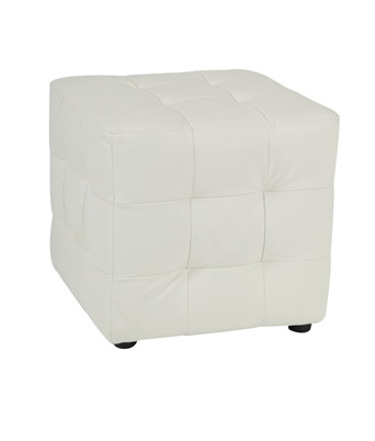 Tufted Cube – White