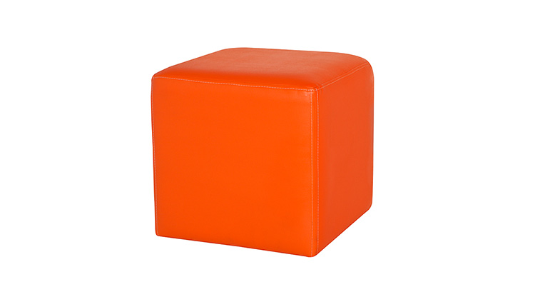 Leather Cube – Orange