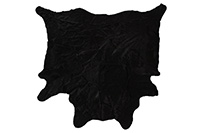 Cow Hide Rug Black