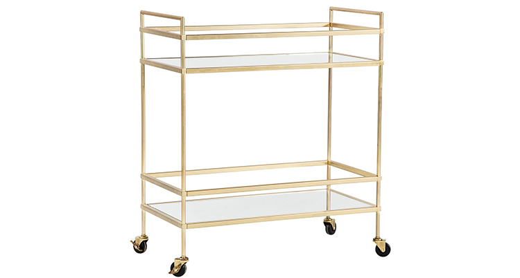 Bar Cart – Gold