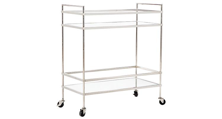 Bar Cart – Silver