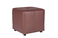 Leather Cube Brown