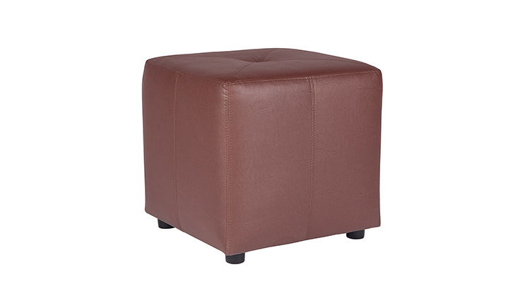 Leather Cube – Brown