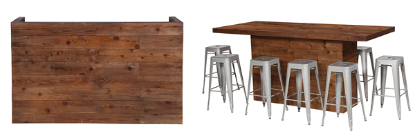 Timber DJ Booth & High Dining Table