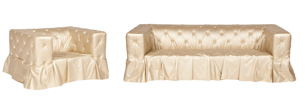 5.Champagne Chair Sofa