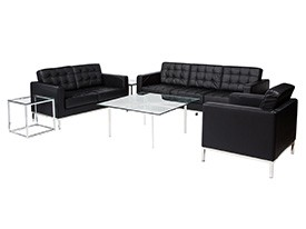 Knoll Lounge Grouping - Black