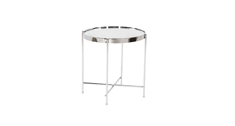 Coin End Table – Chrome