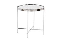 Coin End Table Chrome