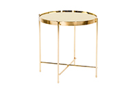 Coin End Table Gold