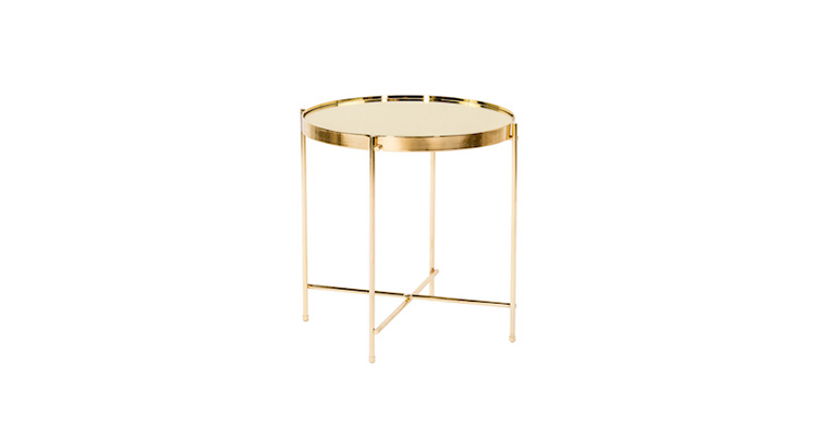 Coin End Table – Gold