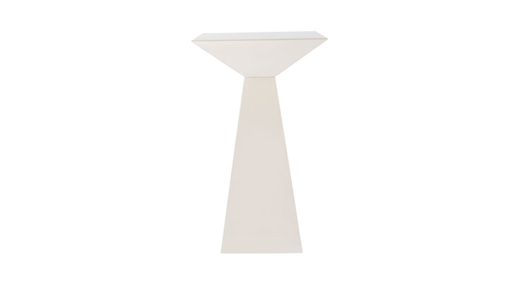 Pyramid Highboy Table – White