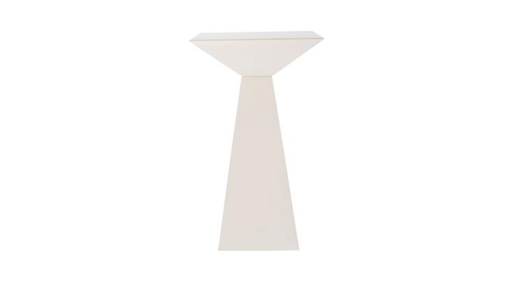 Pyramid Highboy Table – White