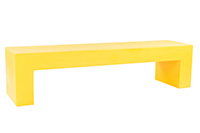 Vignelli Bench Yellow