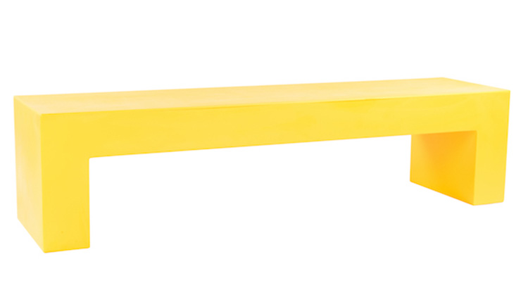 Vignelli Bench – Yellow