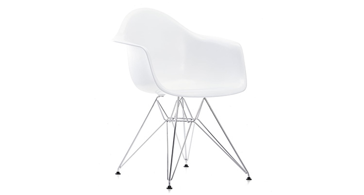 Eames Plastic Arm Chair Wire Leg – White