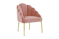 Forum Velvet Chair - Blush