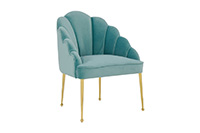 Forum Velvet Chair - Sea Blue
