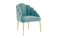 Forum Velvet Chair - Sea Blue
