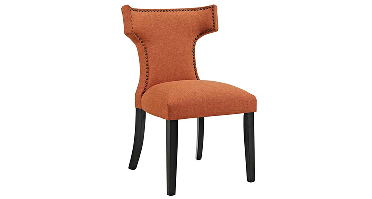Hourglass Dining Chair – Orange