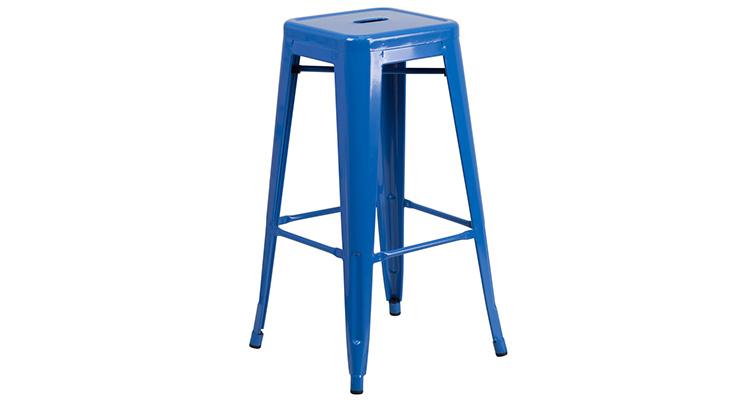 Marais Metal Barstool – Blue
