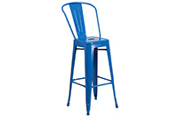 Marais Metal Barstool Back - Blue