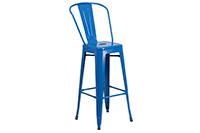 Marais Metal Barstool Back - Blue